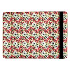 Gorgeous Red Flower Pattern  Samsung Galaxy Tab Pro 12.2  Flip Case