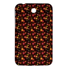 Exotic Colorful Flower Pattern  Samsung Galaxy Tab 3 (7 ) P3200 Hardshell Case