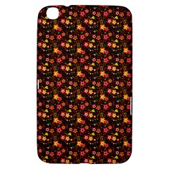 Exotic Colorful Flower Pattern  Samsung Galaxy Tab 3 (8 ) T3100 Hardshell Case
