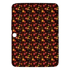 Exotic Colorful Flower Pattern  Samsung Galaxy Tab 3 (10.1 ) P5200 Hardshell Case