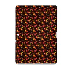 Exotic Colorful Flower Pattern  Samsung Galaxy Tab 2 (10.1 ) P5100 Hardshell Case