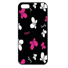 Butterfly Apple iPhone 5 Seamless Case (Black)