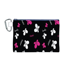 Butterfly Canvas Cosmetic Bag (M)