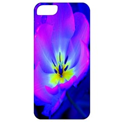 Blue And Purple Flowers Apple Iphone 5 Classic Hardshell Case