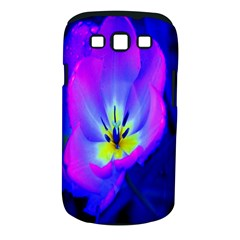 Blue And Purple Flowers Samsung Galaxy S Iii Classic Hardshell Case (pc+silicone)