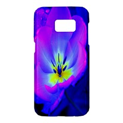 Blue And Purple Flowers Samsung Galaxy S7 Hardshell Case