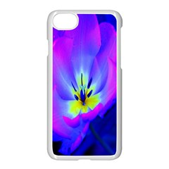 Blue And Purple Flowers Apple Iphone 7 Seamless Case (white)