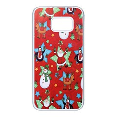 Xmas Santa Clause Samsung Galaxy S7 White Seamless Case