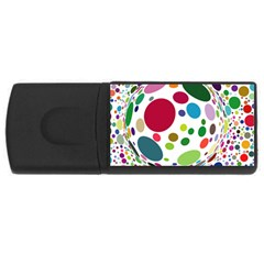Color Balls Usb Flash Drive Rectangular (4 Gb)