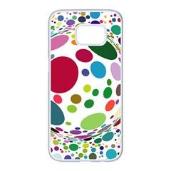 Color Balls Samsung Galaxy S7 edge White Seamless Case