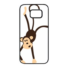 Colorful Animal Monkey Samsung Galaxy S7 edge Black Seamless Case
