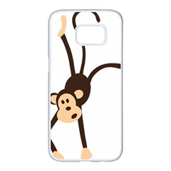 Colorful Animal Monkey Samsung Galaxy S7 Edge White Seamless Case