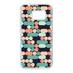 Coral Mint Color Style Samsung Galaxy S7 White Seamless Case
