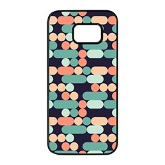 Coral Mint Color Style Samsung Galaxy S7 Edge Black Seamless Case