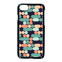 Coral Mint Color Style Apple Iphone 7 Seamless Case (black)