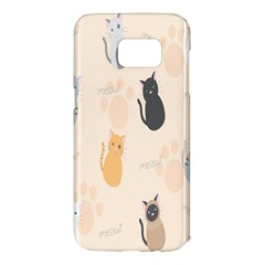 Cute Cat Meow Animals Samsung Galaxy S7 Edge Hardshell Case