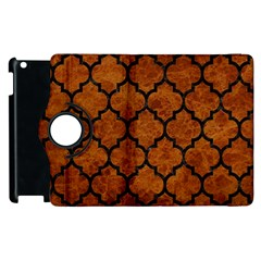 Tile1 Black Marble & Brown Marble (r) Apple Ipad 3/4 Flip 360 Case