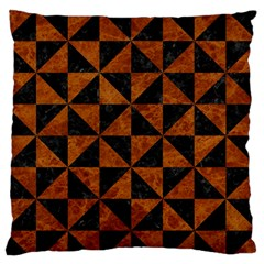 Triangle1 Black Marble & Brown Marble Standard Flano Cushion Case (two Sides)