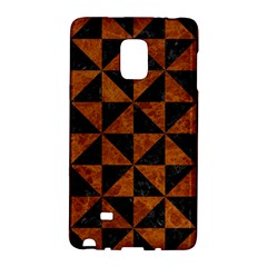 Triangle1 Black Marble & Brown Marble Samsung Galaxy Note Edge Hardshell Case