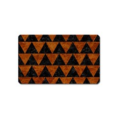 Triangle2 Black Marble & Brown Marble Magnet (name Card)