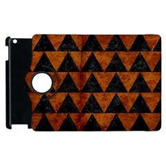 Triangle2 Black Marble & Brown Marble Apple Ipad 2 Flip 360 Case
