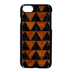 Triangle2 Black Marble & Brown Marble Apple Iphone 7 Seamless Case (black)