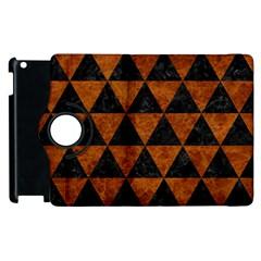 Triangle3 Black Marble & Brown Marble Apple Ipad 2 Flip 360 Case