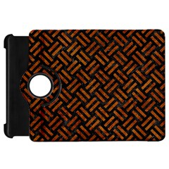 Woven2 Black Marble & Brown Marble Kindle Fire Hd Flip 360 Case