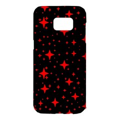 Bright Red Stars In Space Samsung Galaxy S7 Edge Hardshell Case