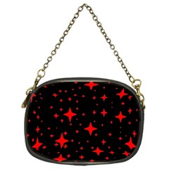 Bright Red Stars In Space Chain Purses (Two Sides)