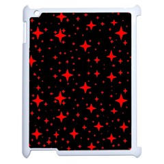Bright Red Stars In Space Apple Ipad 2 Case (white)