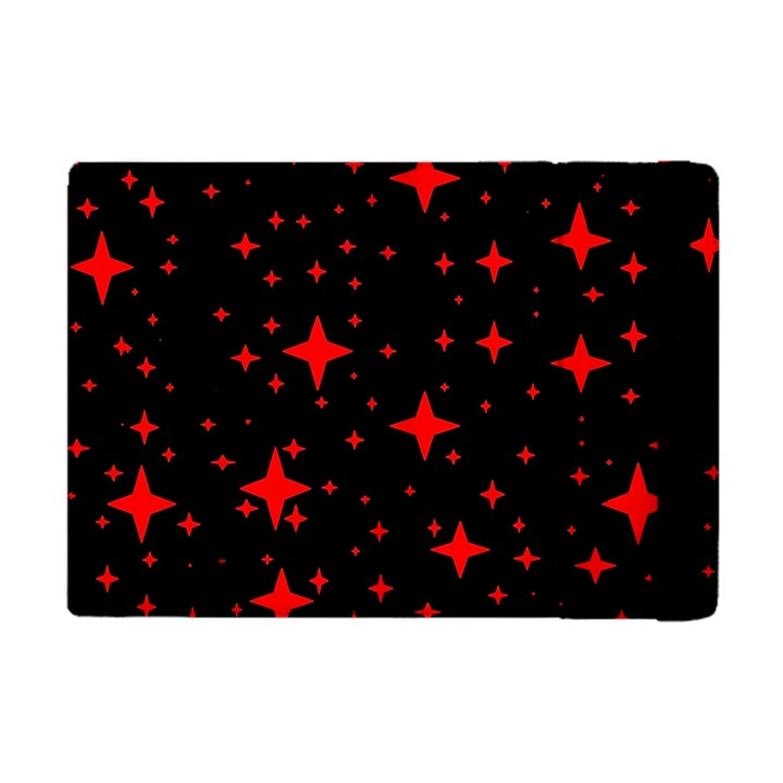 Bright Red Stars In Space Apple iPad Mini Flip Case
