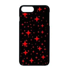 Bright Red Stars In Space Apple Iphone 7 Plus Seamless Case (black)