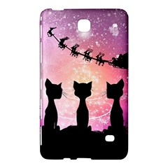 Cats Looking In The Sky At Santa Claus At Night Samsung Galaxy Tab 4 (7 ) Hardshell Case