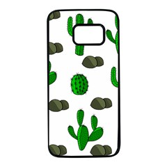 Cactuses 3 Samsung Galaxy S7 Black Seamless Case