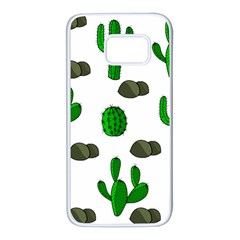Cactuses 3 Samsung Galaxy S7 White Seamless Case