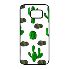 Cactuses 3 Samsung Galaxy S7 edge Black Seamless Case