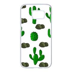 Cactuses 3 Samsung Galaxy S7 edge White Seamless Case