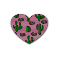 Cactuses 2 Heart Coaster (4 Pack)