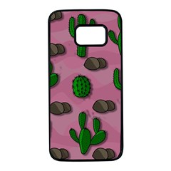 Cactuses 2 Samsung Galaxy S7 Black Seamless Case