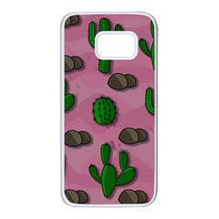 Cactuses 2 Samsung Galaxy S7 White Seamless Case