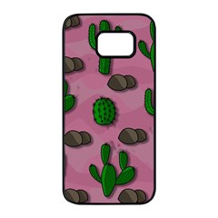 Cactuses 2 Samsung Galaxy S7 edge Black Seamless Case