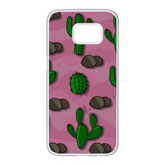 Cactuses 2 Samsung Galaxy S7 edge White Seamless Case