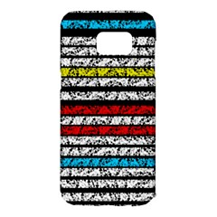 Simple colorful design Samsung Galaxy S7 Edge Hardshell Case