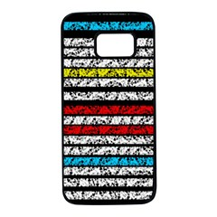 Simple colorful design Samsung Galaxy S7 Black Seamless Case