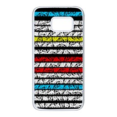 Simple colorful design Samsung Galaxy S7 White Seamless Case
