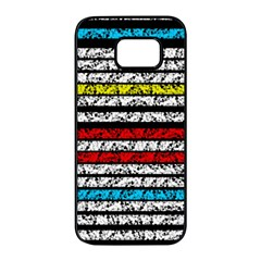 Simple Colorful Design Samsung Galaxy S7 Edge Black Seamless Case