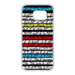 Simple Colorful Design Samsung Galaxy S7 Edge White Seamless Case