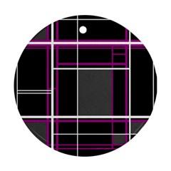 Simple magenta lines Ornament (Round)