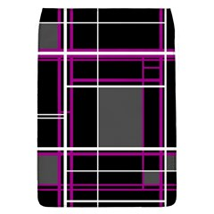 Simple Magenta Lines Flap Covers (l)